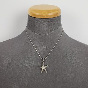 Jewelry - Sliver Rhinestone Starfish Dainty Necklace